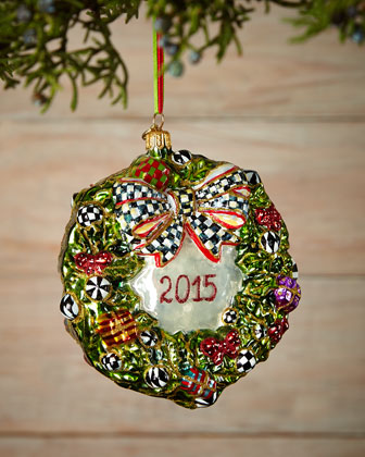 2015 Wreath Christmas Ornament