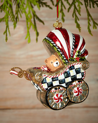 Baby's First Pram Christmas Ornament