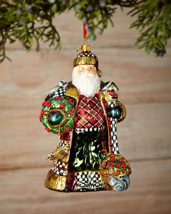 Nature's Friend Santa Ornament