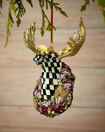 Regal Moose Christmas Ornament
