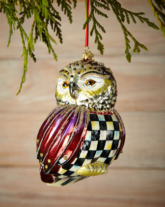 Regal Owl Christmas Ornament