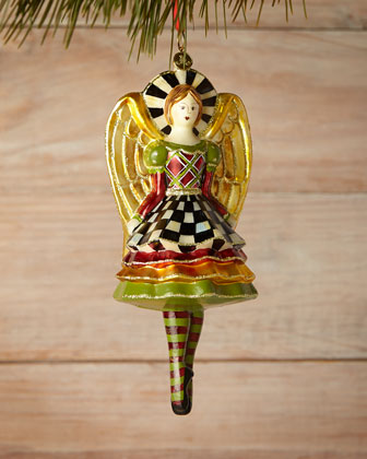 Yuletide Angel on Pointe Christmas Ornament