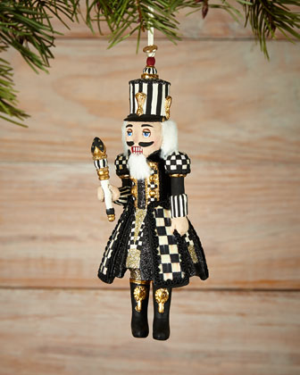 Courtly Check Nutcracker Christmas Ornament