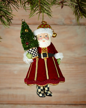 Jingle Santa Christmas Ornament