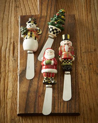 Holiday Spreaders, 4-Piece Set