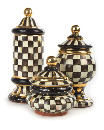 Courtly Check Groovy Canister
