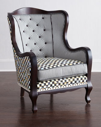 Courtly Check Underpinnings Bachelor Chair