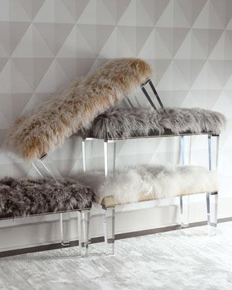 Alala Sheepskin Bench