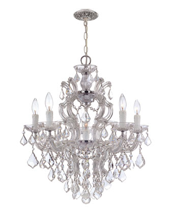 Crystal Drop Six-Light Chandelier