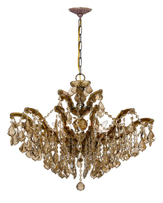 Golden Teak Chandeliers