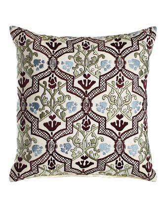 Hidden Garden Trellis Pillow