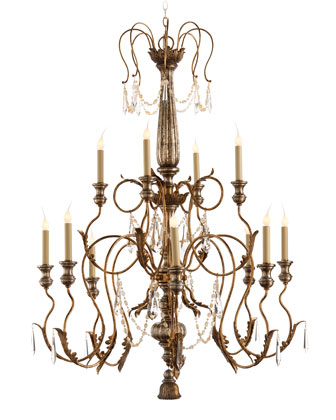Stately 12-Light Crystal Chandelier