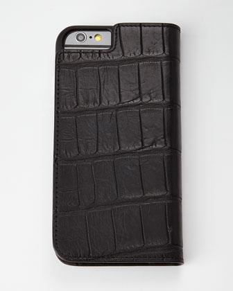 Brown Alligator iPhone 6 Wallet Folio