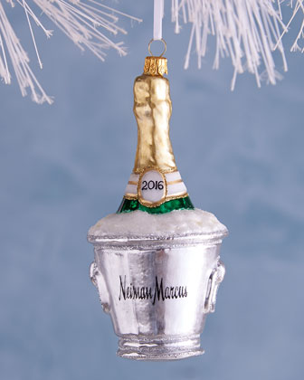 2016 Champagne Bucket Christmas Ornament