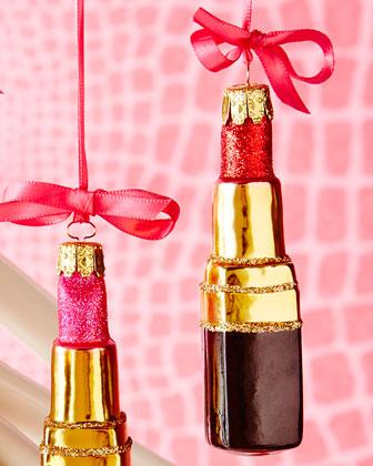 Lipstick Christmas Ornaments