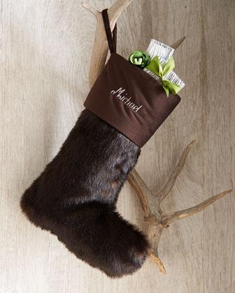 Faux-Fur Christmas Stockings