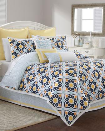 Savannah Tile-Print Bedding