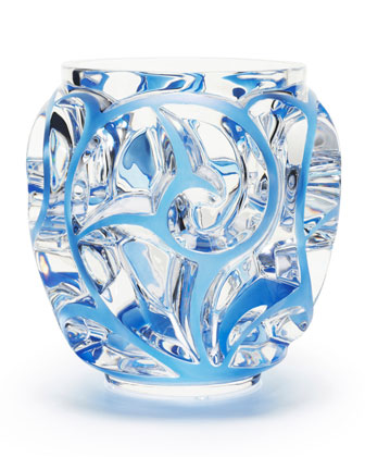 Tourbillions Small Blue/Clear Vase