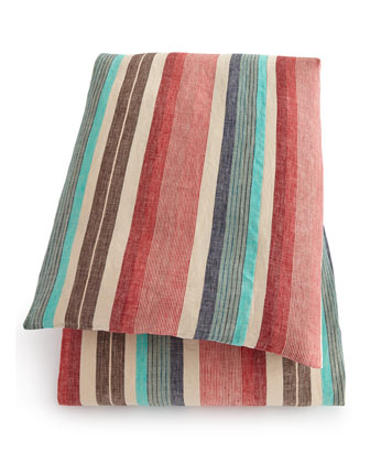 King Northwood Striped Duvet Cover