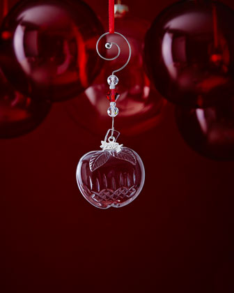 Mini Crystal Apple Christmas Ornament