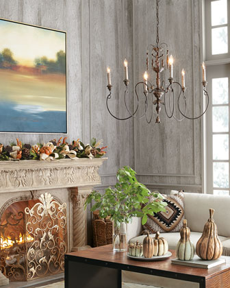 Salento Vintage-Copper Six-Light Chandelier