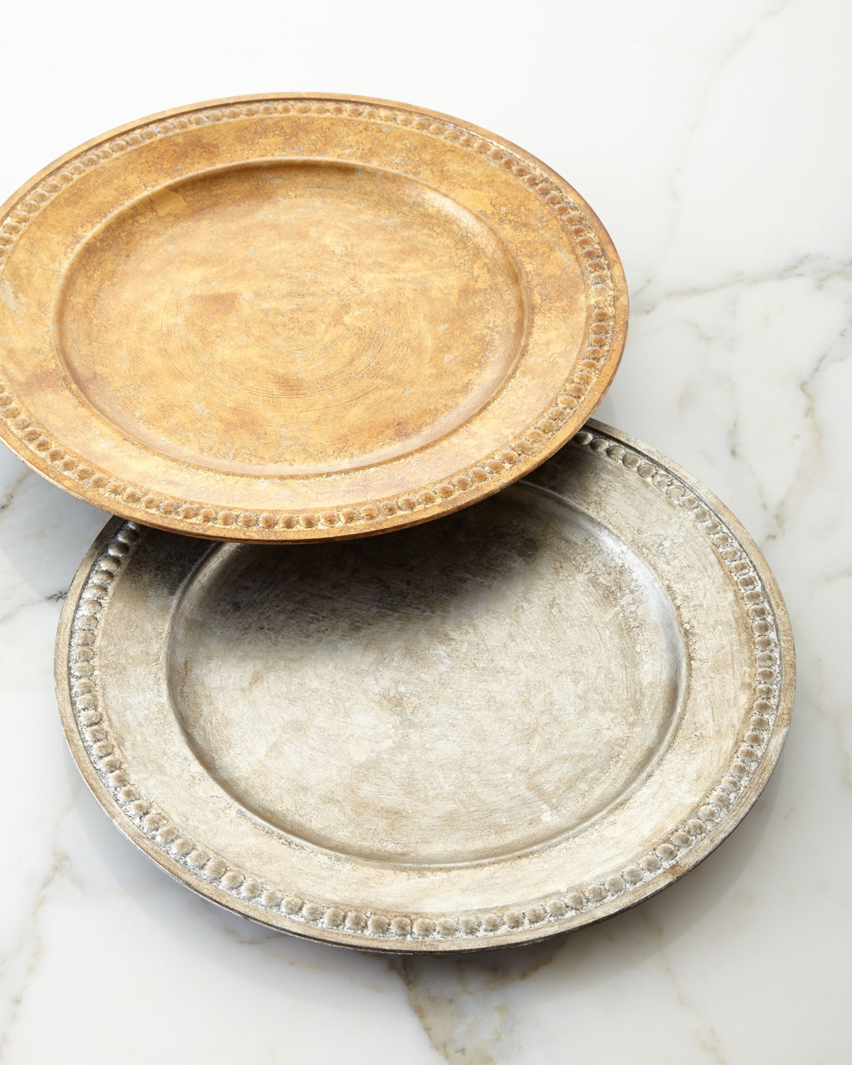Beaded-Edge Charger Plate, Gold - Neiman Marcus