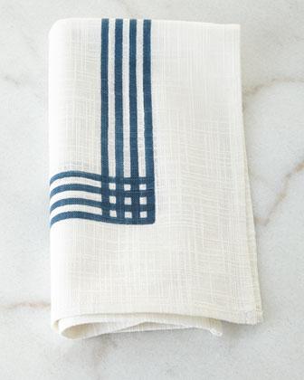 Indigo Stripe Napkins, Set of 4