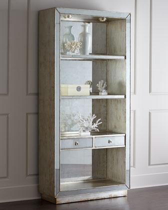 Regent Mirrored Bookcase