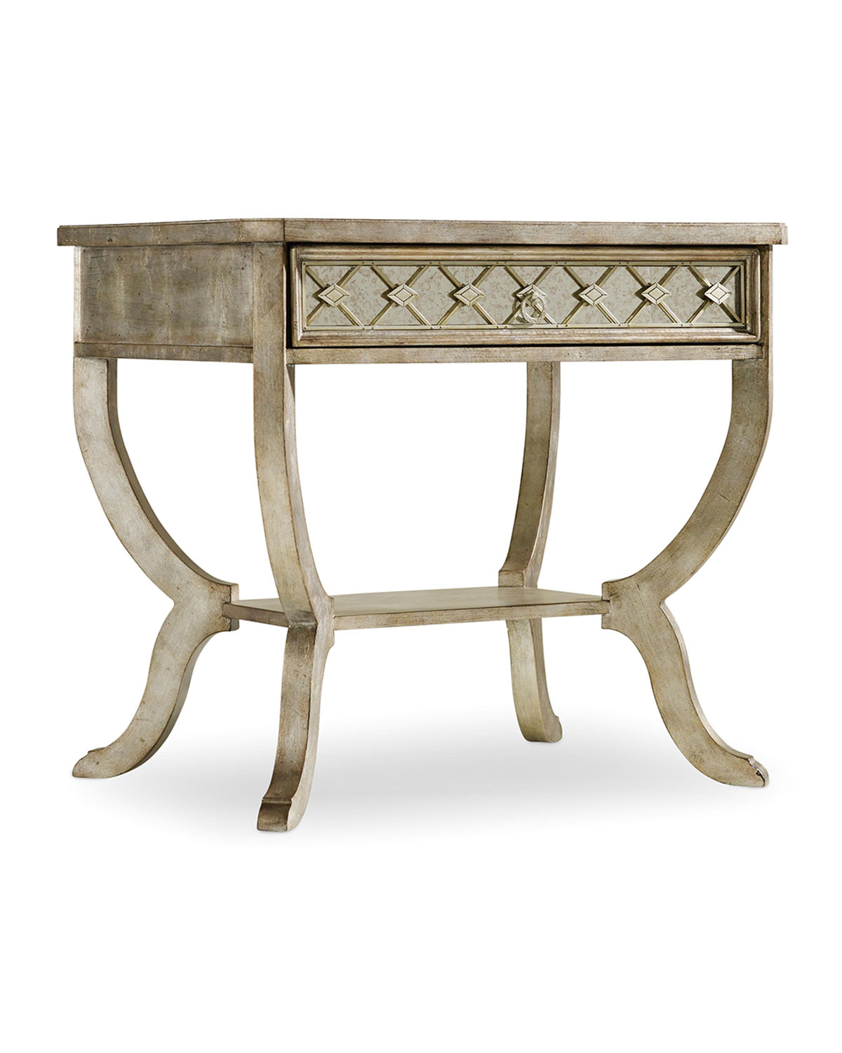 Hadleigh Nightstand, Silver - Hooker Furniture