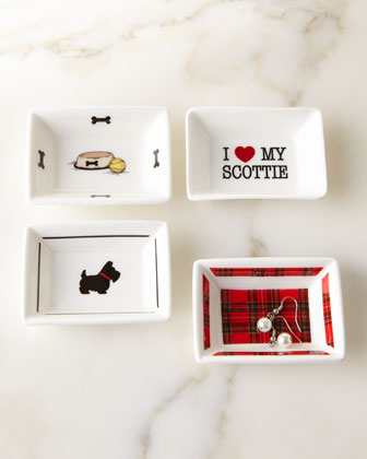 I Love My Scottie Mini Trinket Tray Set