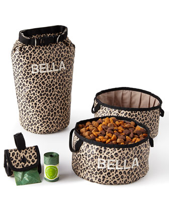 Leopard Bark-N-Go Accessories Sets