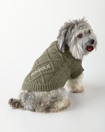 Small Gray Cable-Knit Sweater