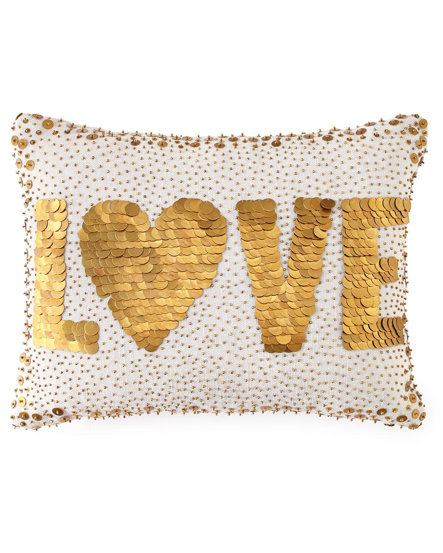 White Love Pillow - Jonathan Adler