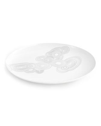 Grey Malachite Oval Platter