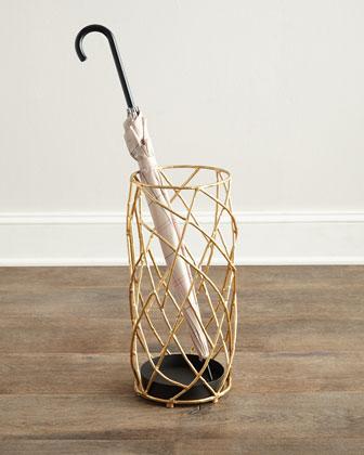 Golden Twig Umbrella Stand