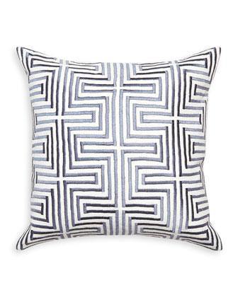 Lisbon Satin-Stitch Pillow