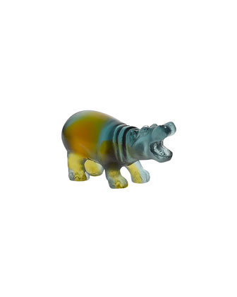 Multicolor Mini Hippo Sculpture