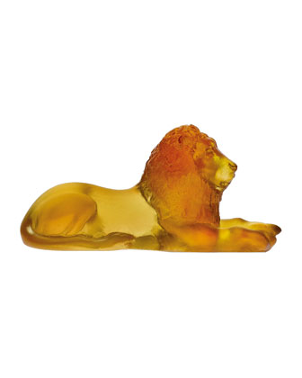 Mini Amber Lion Sculpture
