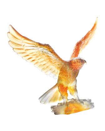 Gray/Amber Eagle Sculpture