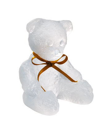 White Teddy Bear Sculpture
