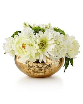 Slivers of Gold Faux-Floral Arrangement