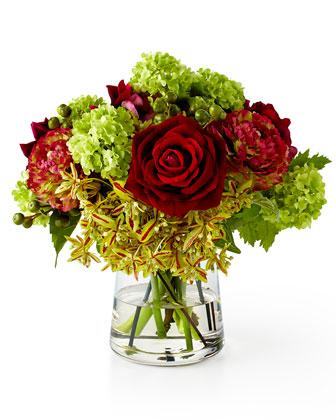 Natural Decorations Inc Rose & Ranunculus Faux-Floral Arrangement