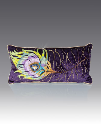 Peacock Feather Pillow, 22