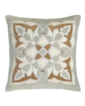 Frozen Dew Tile Pillow
