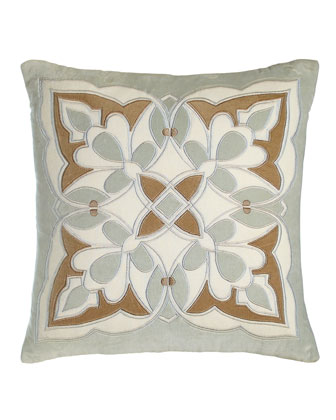 Frozen Dew Ikat Pillow