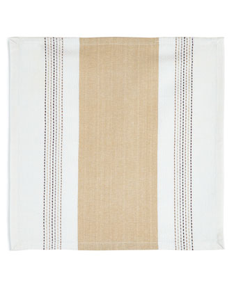 Dobby Stripe Napkins & Table Runner