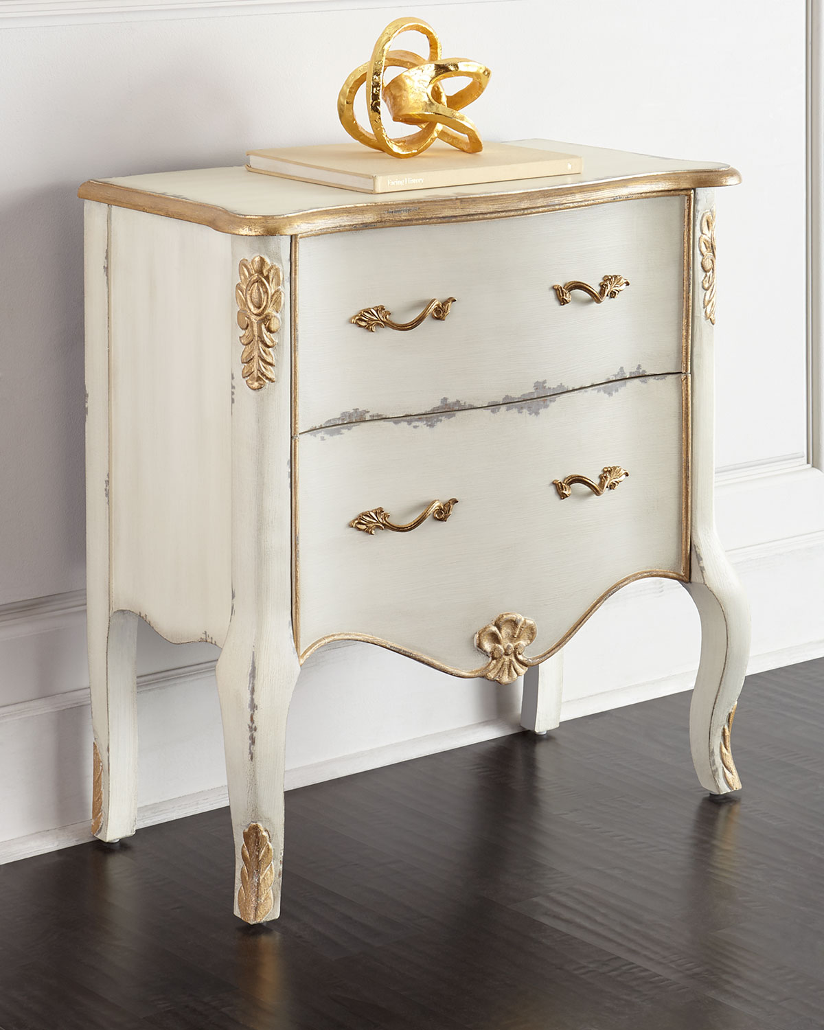 Starla Two-Drawer Chest, Ivory - Neiman Marcus