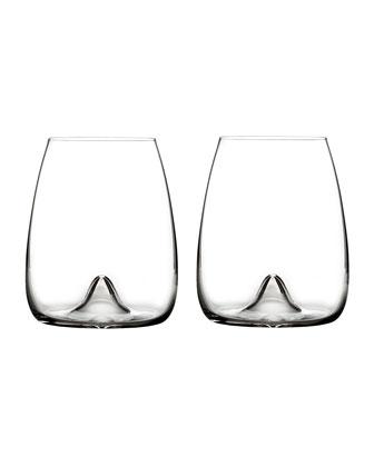 Elegance Stemless Wine Glasses, Set of 2