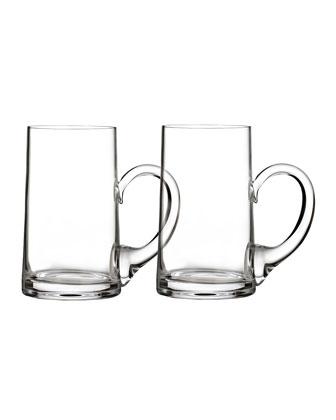 Elegance Beer Mugs, Set of 2