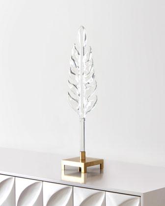 Medium Sculpted Glass Leaf